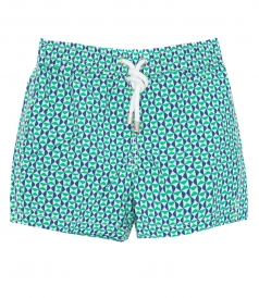ACHILLE GEOMETRIC PRINT SWIM SHORTS