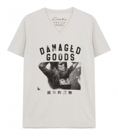 CLOTHES - DAMAGED GOODS V NECK T-SHIRT