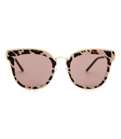NILE/S SUNGLASSES FT LEOPARD SUEDE FRAME