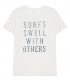 SOL ANGELES - SURFS SWELL LOGO COTTON T-SHIRT