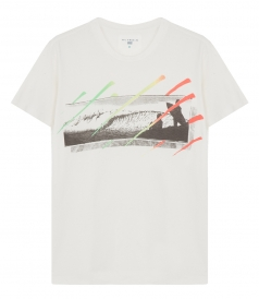 SALES - SURF CHECK GRAPHIC PRINT T-SHIRT