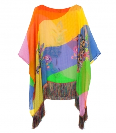ETRO - KESA DRAPED STRIPE PONCHO