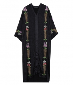 ETRO - LONG FLORAL EMBROIDERED DRESS