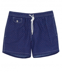 HARTFORD BEACHWEAR - SHORT-LENGTH PRINTED BOXER SWIM SHORTS