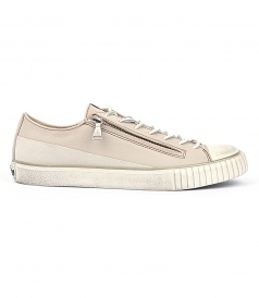 JOHN VARVATOS - DOUBLE ZIP LOW TOP SNEAKERS