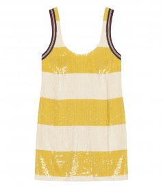 STRIPED SEQUIN TANKDRESS