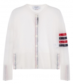 SHEER CLASSIC SILK CARDIGAN