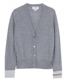 V NECK MERINO WOOL CARDIGAN