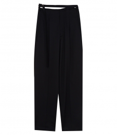 HIGH RISE RELAXED WOOL TROUSERS