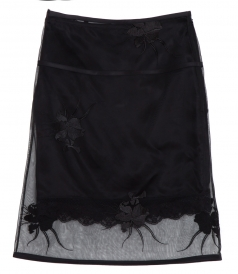 ORCHID EMBROIDERY LAYERED SKIRT