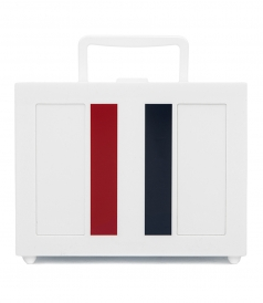 BAGS - LUNCH BOX STRIPED PLEXIGLASS BAG