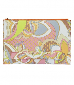 GEOMETRIC FLORAL PRINTED POUCH