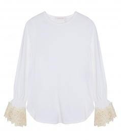 SEE BY CHLOE - LACE TRIM BLOUSE