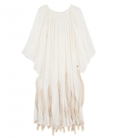 CLOTHES - OVERSIZED KAFTAN DRESS FT FRINGE DETAILS