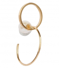 DELFINA DELETTREZ - TWINS HOOP RIGHT MONO EARRING
