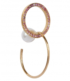 ACCESSORIES - TWINS HOOP SAPPHIRES RIGHT MONO EARRING