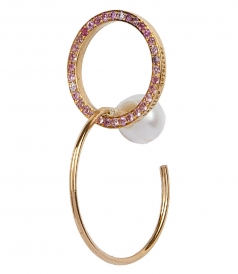 FINE JEWELRY - TWINS HOOP SAPPHIRES LEFT MONO EARRING