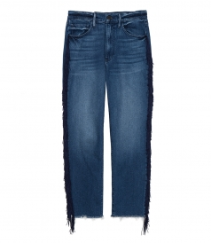JEANS - HIGHER GROUND CROP JEANS FT FRINGE DETAILING