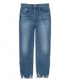 JEANS - RELAXED SPLIT CROP JEANS