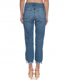 RELAXED SPLIT CROP JEANS