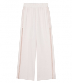CLOTHES - EMBROIDERED TRIM WIDE LEG PANTS