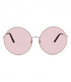 MATTHEW WILLIAMSON - 170 C1 ROUND SUNGLASSES FT BLUSH PINK MIRRORED LENSES