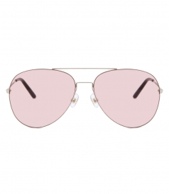 MATTHEW WILLIAMSON - 171 C16 AVIATOR SUNGLASSES FT PINK NYLON LENSES