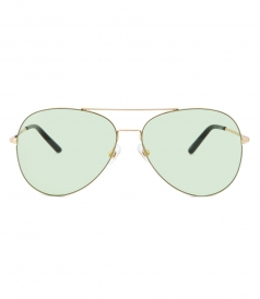 MATTHEW WILLIAMSON - 171 C15 AVIATOR SUNGLASSES FT MINT NYLON LENSES