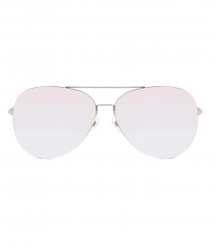 MATTHEW WILLIAMSON - 171 C15 AVIATOR SUNGLASSES FT CHAMPAGNE MIRRORED NYLON LENSES