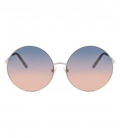 MATTHEW WILLIAMSON - 170 C20 ROUND SUNGLASSES FT SUNSET GRADIENT NYLON LENSES