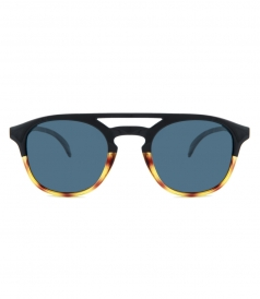 ACCESSORIES - OLEMAS BLACK TORTOISE SLATE SUNGLASSES