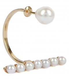 FINE JEWELRY - 9K YELLOW GOLD VEIN EARRING FT WHITE FRESHWATER PEARLS