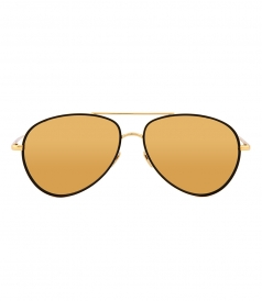 SUNGLASSES - LINDA FARROW 702 C1 AVIATOR SUNGLASSES
