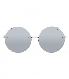 SUNGLASSES - LINDA FARROW 728 C2  ROUND FRAMED SUNGLASSES