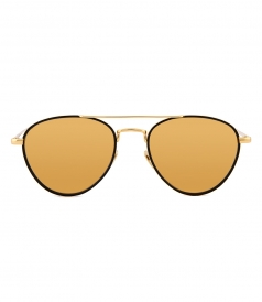 ACCESSORIES - LINDA FARROW 739 C1 AVIATOR SUNGLASSES