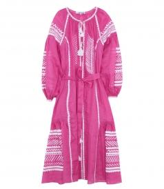 NAMBIA MAXI DRESS IN FUSCHIA