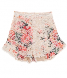 LAELIA FLORAL PRINT FRILL SHORTS