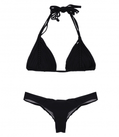 ISLA TRI-MIDNIGHT TOP FT BASIC RUCHED FULL BOTTOM BIKINI