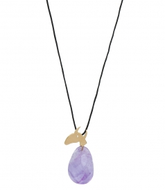 FINE JEWELRY - PICASSO BULL YELLOW GOLD FT AMETHYST PENDANT