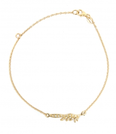 HERMES SMALL WING YELLOW GOLD FT DIAMONDS BRACELET