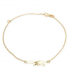 FINE JEWELRY - HERMES SMALL WING YELLOW GOLD BRACELET