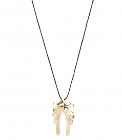 FINE JEWELRY - HERMES DOUBLE WING YELLOW GOLD PENDANT
