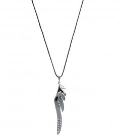 FINE JEWELRY - HERMES BIG WING BLACK PLATINUM FT DIAMONDS PENDANT