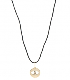 FINE JEWELRY - CUT OUT EVIL EYE YELLOW GOLD PENDANT