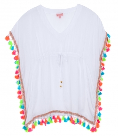 MULTICOLORED TASSEL PONCHO