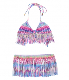 CLOTHES - FRINGE SKIRT BIKINI