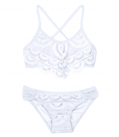 CLOTHES - LACE FLUTTER BIKINI