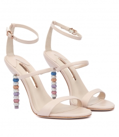 SANDALS - ROSALIND SANDAL FT MULTICOLORED CRYSTAL BEADED HEEL
