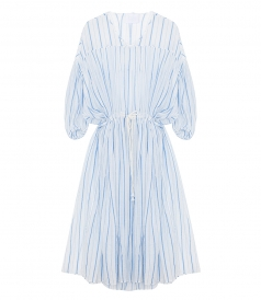CLOTHES - RIVERA DRAWSTRING WAIST STRIPED COTTON DRESS