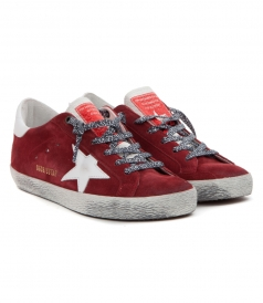 SUPERSTAR SNEAKERS IN RED SUEDE